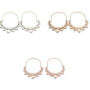 Boho Hoop Statement Earrings